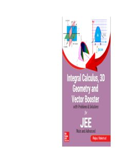 Integral Calculus 3D Geometry and Vector Booster with Problems and Solutions for IIT JEE Main and Advanced Rejaul Makshud McGraw Hill