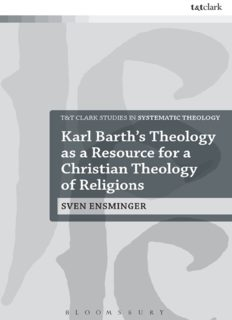 Karl Barth's Theology as a Resource for a Christian Theology of Religions