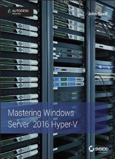 Mastering Windows Server 2016 Hyber V - John Savill