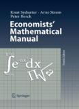 Economists' Mathematical Manual, Fourth Edition