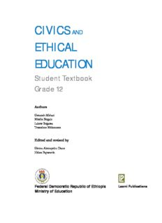 Civic Ethical Education Grade 12 Student TextBook
