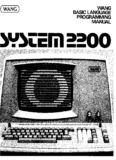 Wang BASIC Language Programming Manual, (c) 1976 - Wang 2200