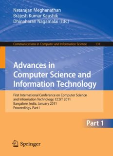 Advances in Computer Science and Information Technology: First International Conference on Computer Science and Information Technology, CCSIT 2011, Bangalore, India, January 2-4, 2011. Proceedings, Part I