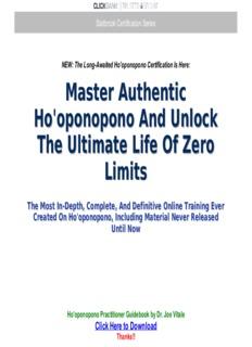 Ho'oponopono Practitioner Guidebook by Dr. Joe Vitale