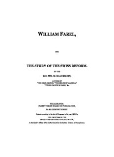 Farel - Story of the Swiss Reformation