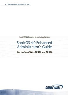 SonicOS Enhanced 4.0 Administrator's Guide for TZ 180 - Sonicwall
