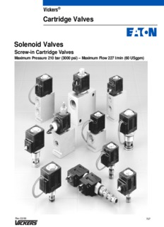 Vickers Cartridge Valves Solenoid Valves - Vickers Hydraulics