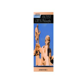 Historical Dictionary of Ancient Greek Philosophy (Historical Dictionaries of Religions, Philosophies and Movements)