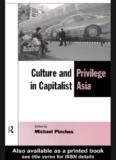 Culture and Privilege in Capitalist Asia - Jurusan Antropologi