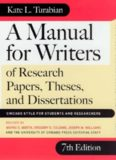 By Kate L. Turabian A Manual for Writers of Term Papers, Theses, and Dissertations