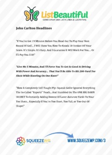 John Carlton Headlines
