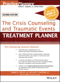 The Crisis Counseling and Traumatic Events Treatment Planner, with DSM-5 Updates, Second Edition