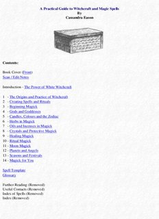 A Practical Guide to Witchcraft and Magic Spells By