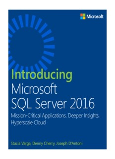 Introducing Microsoft SQL Server 2016