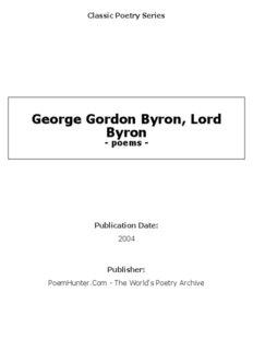 George Gordon Byron, Lord Byron - poems -