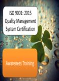 ISO 9001: 2015 Quality Management System Certification Awareness Training
