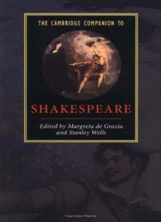 The Cambridge Companion to Shakespeare (Cambridge Companions to Literature)