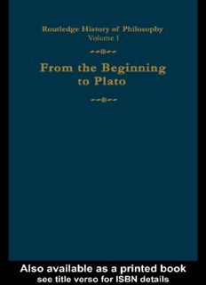 Routledge History of Philosophy Volume I From the Beginning to Plato - C.C.W.Taylor.pdf