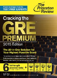 Cracking the GRE Premium Edition with 6 Practice Tests 2015 The Princeton Review