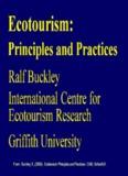 Ecotourism: - Griffith Research Online - Griffith University