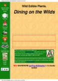 Dining on the Wilds, wild edible plants for gourmet and survival