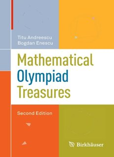 Mathematical Olympiad Treasures (Second Edition)