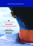 Instructions Manual to Serway and Jewett's Physics for Scientists