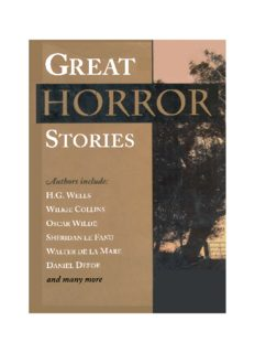 Great Horror Stories (The Great Book of Thrillers; Great Tales of Terror)
