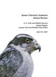 Queen Charlotte Goshawk Status Review - Alaska Region, US Fish