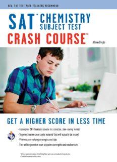 SAT Subject Test: Chemistry Crash Course (SAT PSAT ACT (College Admission) Prep)