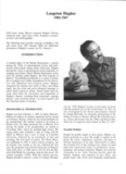 Page 1 Langston Hughes 1902-1967 (Full name: James Mercer Langston Hughes) African ...