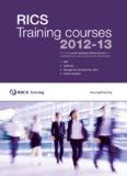 RICS Training courses 2012-13 - RICS: Royal Institution of