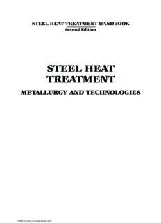 Steel Heat Treatment: Metallurgy and Technologies (Steel Heat Treatment Handbook, Second Edition)