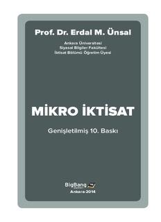 MİKRO İKTİSAT - Prof. Dr. Erdal M. Ünsal