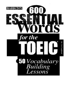 600 Essential Words for the TOEIC Test (TOEIC : Test of English for International Communications)