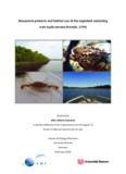 Movement patterns and habitat use of the exploited swimming crab Scylla serrata