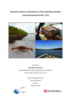 Movement patterns and habitat use of the exploited swimming crab Scylla serrata
