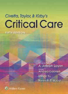 Civetta, Taylor, Kirby's Critical Care Medicine