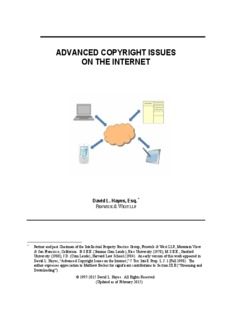 Advanced Copyright Issues on the Internet