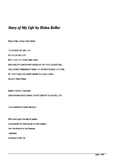Story of My Life by Helen Keller