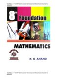 Class 8 Book -2 Foundation Mathematics