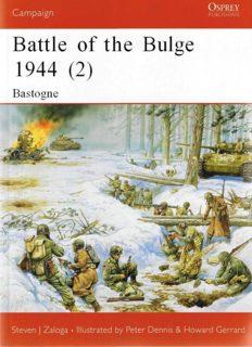 Osprey Campaign 145 - Battle Of Bulge the 1944 (2) Bastogne