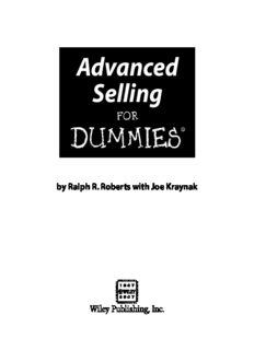 Advanced Selling For Dummies (For Dummies (Business & Personal Finance))