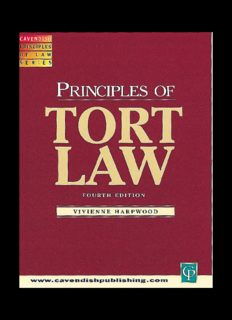 Principles of Tort Law, Fourth Edition