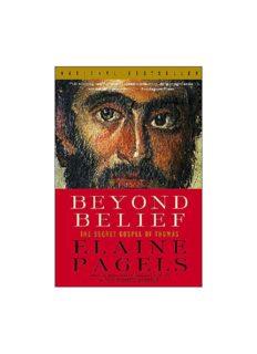 Beyond Belief: The Secret Gospel of Thomas