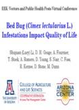 Bedbug (Cimex lectularius L.) Infestations Impact Quality of Life