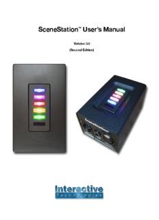 SceneStation™ User's Manual