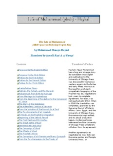Life of Prophet Muhammad by Muhammad