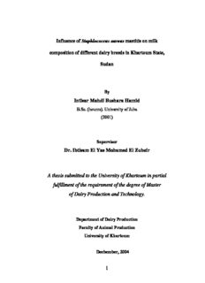 Intisar Mahdi Bushara Hamid Dr. Ibtisam El Yas Mohamed El Zubeir A thesis submitted to the ...