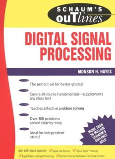 Schaum's Outlines of Digital Signal Processing (Ripped - rockingME
